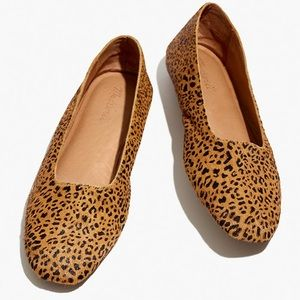 Madewell new Cory Flat in Leopard Calf Hair